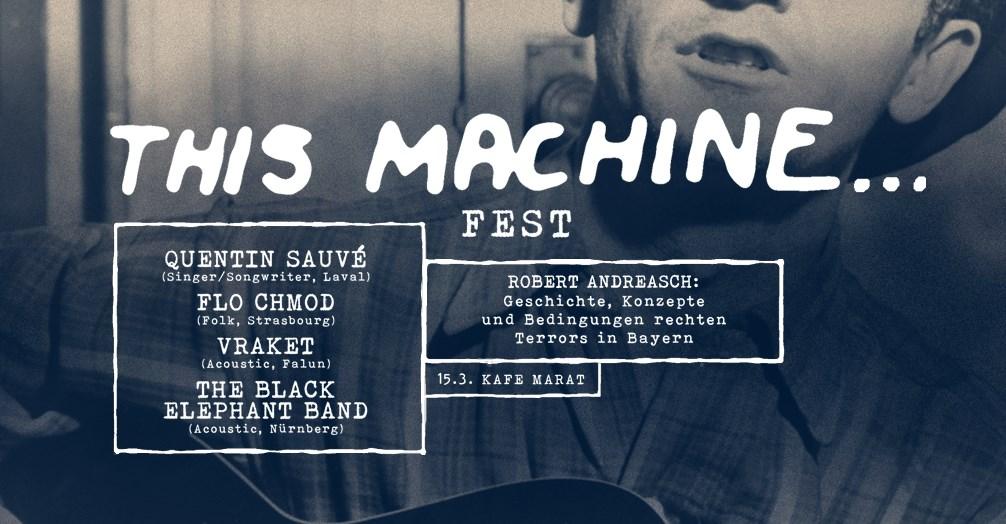 INS KAFE MARAT VERLEGT!!! This machine fest