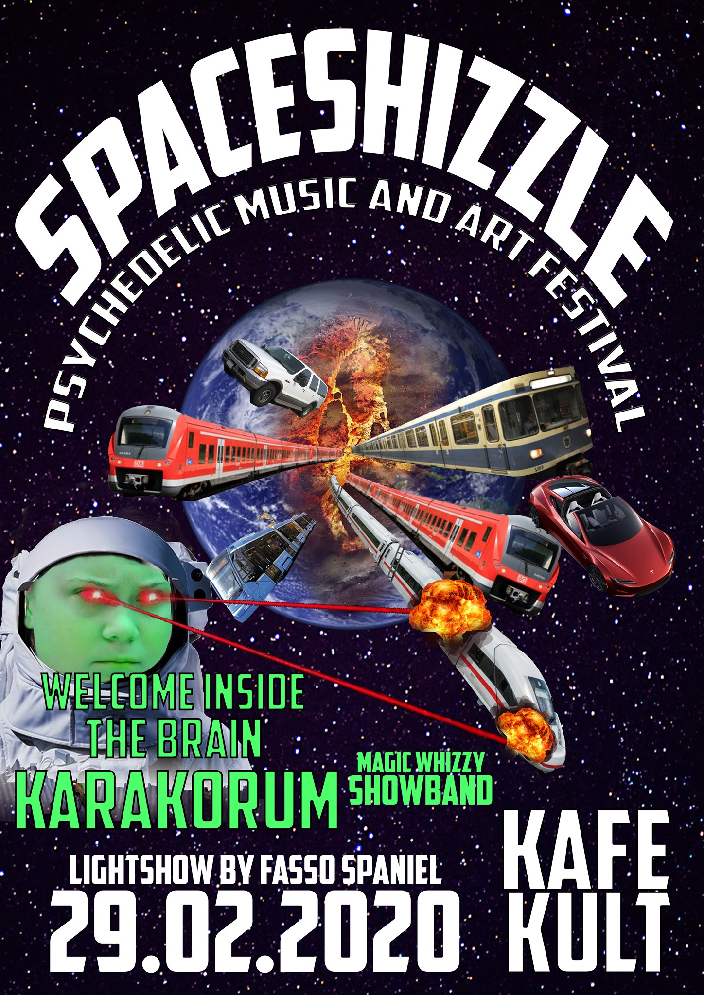 SPACESHIZZLE: KARAKORUM + WELCOME INSIDE THE BRAIN + MAGIC WHIZZY